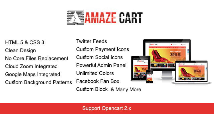Amazecart Responsive Opencart Theme