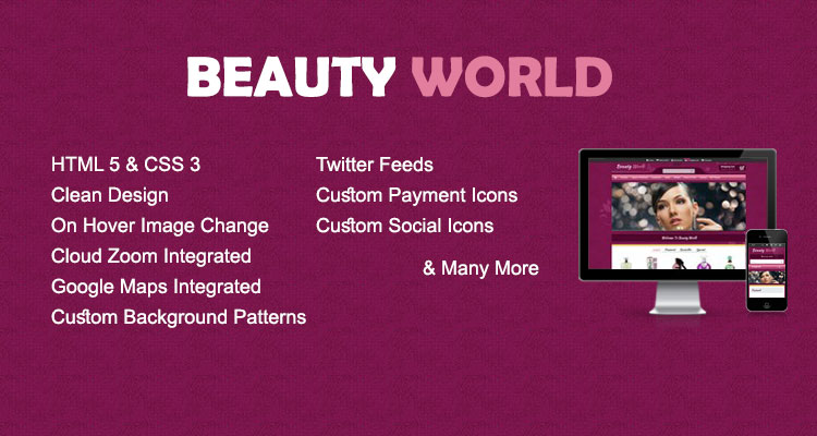 Beauty World Opencart Theme