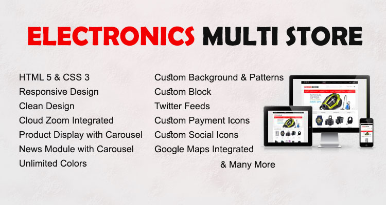Electronics Multistore Opencart Theme