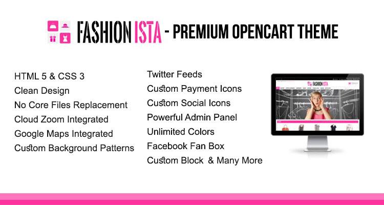 Fashionista Theme Opencart