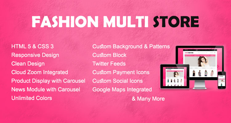 Fashion Multistore Opencart Theme