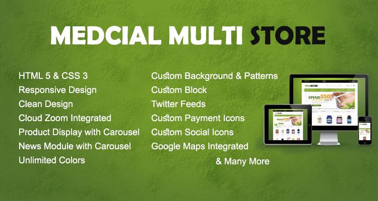 Medical Multistore Opencart Theme