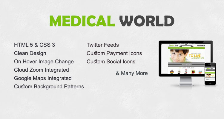 Medical World Opencart Themes