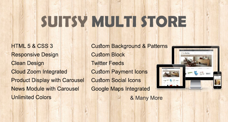 Suitsy Multistore Opencart Theme