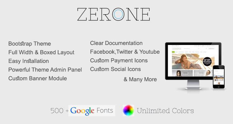 Zerone Premium Responsive Opencart