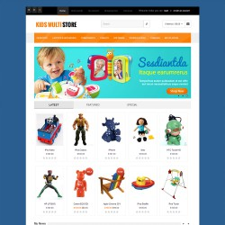 Kids Multistore Responisve - Opencart Theme 2.1.0.1